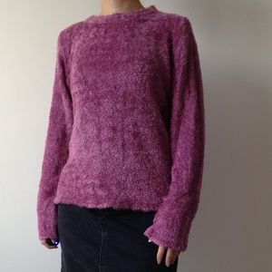 American Connection - Soft & Fuzzy Pink Sweater